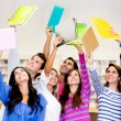 Group of students celebrating — Stock Photo
