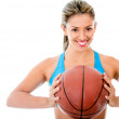 Female basketball player — Stock Photo #11465430