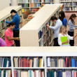 Stock Photo: Students at the library