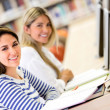 Women studying online — Stock Photo