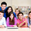 Stock Photo: Casual group of students