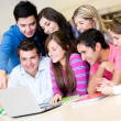 Stock Photo: Students online