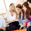Stock Photo: Group of friends talking