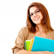 Happy female student - Stock Photo