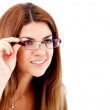 Woman wearing glasses - Stock Photo