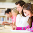Stock Photo: Students taking a test