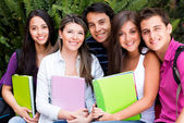 Group of friends at uni — Stock Photo