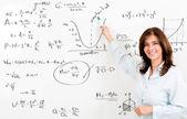 Maths teacher — Stock Photo
