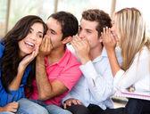 Students gossiping — Stock Photo