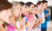 Group of applauding — Stock Photo