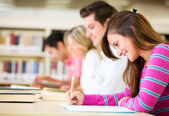 Students taking a test — Stock Photo