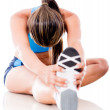 Athletic womstretching — Stock Photo #11522583
