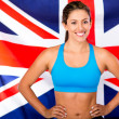 Stock Photo: British female athlete