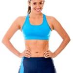 Gym woman — Stock Photo