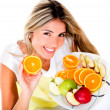 Healthy eating woman — Stock Photo #11522614