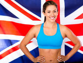 British female athlete — Stock Photo