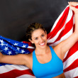 American female athlete — Foto Stock