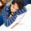 Tired male student — Stock Photo