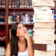 Busy female student — Stock Photo