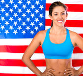 USA athlete — Stock Photo