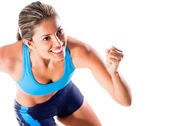 Happy female athlete — Stock Photo