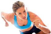 Competitive female athlete — Stock Photo