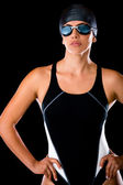 Professional female swimmer — Stock Photo