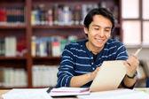 šťastný muž student — Stock fotografie
