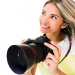 Female photographer — Stock Photo #11593464