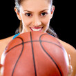 Stock Photo: Basket player