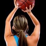 jogador de basquete tiro — Foto Stock