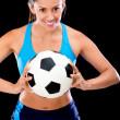 Female football player — Stock Photo