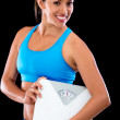Weight loss woman — Stock Photo #11593593