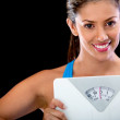 Woman happy with her weight - Photo