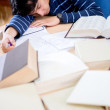 Student sleeping — Stockfoto