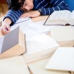 estudiante durmiendo — Foto de Stock
