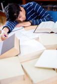 Student sleeping — Stock Photo