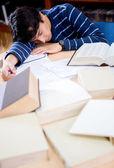 Student sleeping — Stock Photo