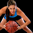 Female basketball player — Stock Photo #11624941