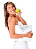 Healthy eating woman — Stockfoto
