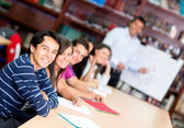 Group of students in class — Stock Photo