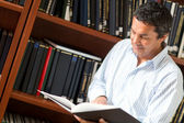 Man at the library — Stock Photo