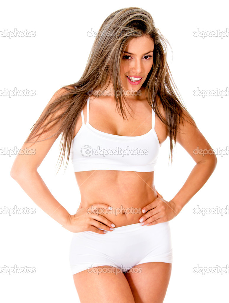 Woman with a beautiful body - isolated over white background  Stock Photo #11624883