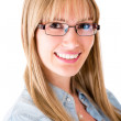 Woman wearing eyeglasses — Stock Photo