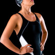 Foto Stock: Female swimmer