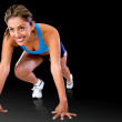 Female runner — Stock Photo