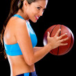Woman playing basketball — Stock Photo #11677522