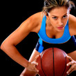 Competitive basketball player — Stock Photo #11677533