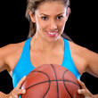 Female basketball player — Stock Photo #11677542