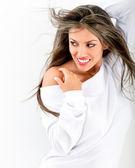 Flirtatious woman posing — Stock Photo